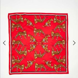 Ann Taylor Cheetah Silk Little Scarf